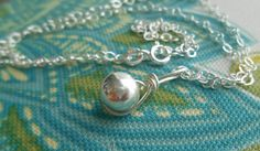 $24 Sterling Silver Bead Roped Necklace  SN03 by SFDesigns2015 on Etsy