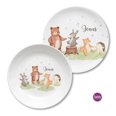 Design Shop, Teller, Decorative Plates, Tableware, Home Decor, Personalized Gifts, Saving Money Jars, Woodland Creatures, Baby Favors