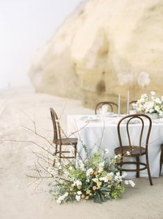A beautiful beach tablescape Blue and Gray Coastal Wedding Ideas Coastal Wedding Inspiration, Makeup Services, Sweetheart Table, Beautiful Beaches, Special Day, Summer Wedding, Destination Wedding, Wedding Decorations, Bouquet