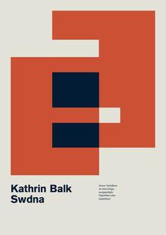 Minimalist Poster by Dominik Bubel Minimalist Poster Design, Graphic Design Posters, Graphic Prints, Web Design, Print Design, Logo Design, Blog Design Inspiration, Typography Inspiration, Design Ideas
