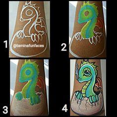 Dragon Face Painting, Body Painting, Animal Paintings, Face Paintings, Arm Art, Face Painting Designs, Baby Dragon, Cool Kids, Fantasy Art