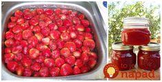 Vyskúšala som aj iné recepty, no tento je najstarší a zároveň aj najlepší! Raspberry, Strawberry, Cooking Recipes, Healthy Recipes, Preserves, Pickles, Food And Drink, Pesto, Fruit