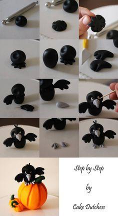 Halloween black bird tutorial