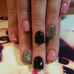 60 Gorgeous Short Nails Design with Dark Color for Fall and Winter (Square, Round, Oval Nails) - Nail Idea ❣ ❣ ❣ ❣ ❣ ❣ ❥ ❥❥ Don't be afraid to step out of your nail design comfort zone. Gorgeous Nails, Pretty Nails, Short Gel Nails, Short Nail Manicure, Black Nails Short, Nails Polish, Black Shellac Nails, Uv Gel Nails, Gel Manicures