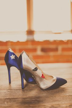 Charlotte Olympia wedding shoes   Photo by Yuna Leonard   Florals by The Little Branch  Read more - http://www.100layercake.com/blog/?p=74488