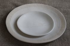Dinner & side plate - Textured range in white stoneware Clay Art ceramics by sonja moore Plates And Bowls, Side Plates, Dinner Sides, Stoneware Clay, Clay Art, Heaven, Range, Ceramics, Tableware