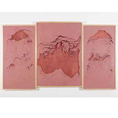 "Sophie Ko Chkheidze ""Geografia Temporale (Pala d'altare)"" 140x245cm pigmento, cornice, 2014 Courtesy A+B, Brescia (I)"