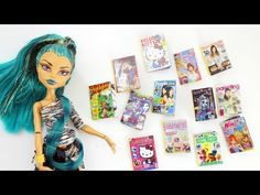 How to make a doll magazines - doll crafts - YouTube