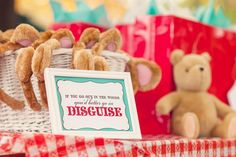 My Daughter's Teddy Bear Picnic Birthday Party - teddy bear ears! Instead of party hats
