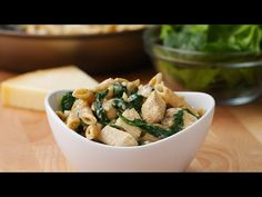 Healthy Chicken Alfredo Pasta - Video Recipe, Ingredients list and easy step by step instructions. Visit us online for more Tasty Recipes! Healthy Chicken Alfredo, Healthy Chicken Recipes, Healthy Dinner Recipes, Pasta Recipes, Cooking Recipes, Chicken Pasta, Penne Pasta, Cooking Videos, Healthy Meals