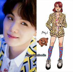 Bts Taehyung, Bts Bangtan Boy, Jimin, K Pop, Bts Girl, Min Yoonji, Bts Inspired Outfits, Bts Drawings, Kpop Fashion Outfits