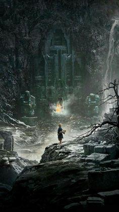 The Hobbit Poster Desolation of Smaug Teaser Official Maxi JRR Tolkien for sale Fantasy Places, Fantasy World, Fantasy Art, Concept Art Landscape, Fantasy Landscape, Jrr Tolkien, Hobbit Art, The Hobbit, Art Disney