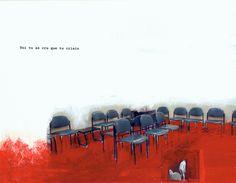 """Toi tu as cru que tu criais. © Julie St-Onge-Drouin / Roman graphique """"Attente""""."""