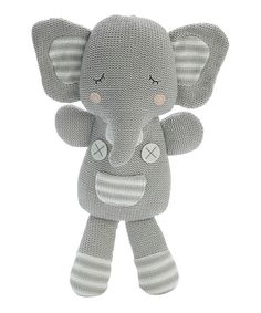 Another great find on #zulily! Gray Theodore Elephant Plush by Living Textiles Baby #zulilyfinds