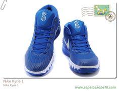 finest selection a2011 b0f09 tenis barato de marca Nike Kyrie 1 Royal Azul Branco 705277-418 Masculino