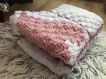 Textil - Deka do kočíka Gold - Srdiečko, ružová - Alpaca Blanket, Wool Blanket, Sheep Wool, Hand Spinning, Signature Style, Handmade Art, Hand Knitting, Creative, Blankets