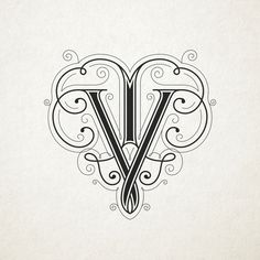 VT Wedding Monograms by Sulekha Rajkumar, via Behance