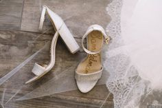 Soft neutral silver sparkle heeled sandals | wedding shoes {Gin and July}