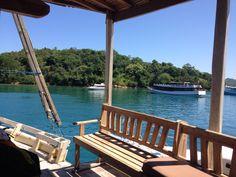 On Board. Embun Laut, LOB. Labuan Bajo Labuan, Lob, Porch Swing, Outdoor Furniture, Outdoor Decor, Travelling, Explore, Board, Home Decor