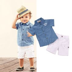 Boys Summer Outfits, Toddler Outfits, Baby Boy Outfits, Cute Baby Boy, Cute Baby Clothes, Outfits Niños, Kids Outfits, Toddler Boys, Kids Boys