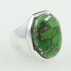 COPPER TURQUOISE STONE BEAUTIFUL DESIGN 925 STERLING SILVER RING #SilvexImagesIndiaPvtLtd #Statement