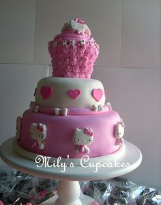 hello kitty cake... Thinking maybe trying the giant cupcake part