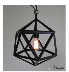 Vintage Diamond Pendant Light Loft Iron Pendant Lamps Industrial Pendant Lights 12Inch/19.5Inch E27 Source 110V-220V EMS from Tuniverse,$196.35 | DHgate.com
