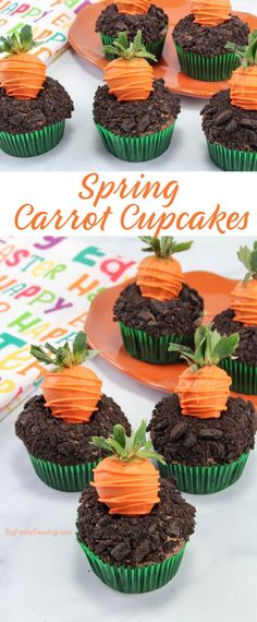 These adorable cupcakes for spring and easter dessert. Perfect Easter cupcakes for kids! These easter cupcakes will make everyone happy! Spring Cupcakes, Holiday Cupcakes, Easter Cupcakes, Easter Cookies, Easter Treats, Easter Deserts, Happy Birthday Cupcakes, Bunny Cupcakes, Cupcake Recipes