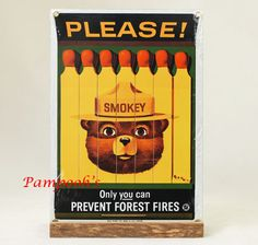 Ande Rooney Smokey The Bear Smokey The Bears, Blitz, Forest Service, Old And New, Cover Art, North America, Graphic Art, Teddy Bear, Signs