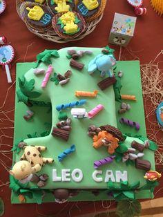 Safari temalı pasta