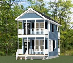 14x28 Tiny House -- #14X28H6G -- 749 sq ft - Excellent Floor Plans