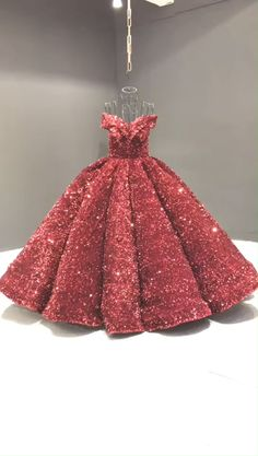 Dark red sequin Quinceanera dress Luxury burgundy off the shoulder sparkly princess dresses. Tulle Ball Gown, Ball Gowns Prom, Ball Dresses, Evening Dresses, Prom Dresses, Pageant Gowns, Graduation Dresses, Sexy Dresses, Summer Dresses