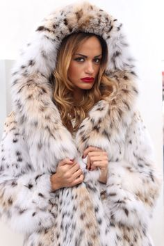 Pelliccia cappotto di pelliccia cappotto LINCE FUR COAT Lynx PELLICCIA FOURRURE LINCE рыси МЕХА