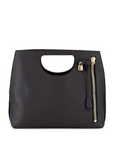 Alix Zip & Padlock Shopper Tote Bag, Black by Tom Ford at Bergdorf Goodman.