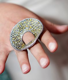 This ring, called Ocean Sparkle, was a collaboration between Todd and Atelier Zobel - Peter Schmid. Created in 2011, it's inspired by life under the sea.
