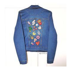 Diy patch jaqueta jeans