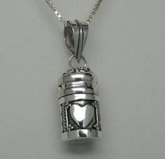 HEART CREMATION JEWELRY URN NECKLACE STERLING SILVER CYLINDER MEMORIAL KEEPSAKE in Everything Else, Jewelry & Watches | eBay