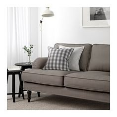 STOCKSUND Sofa, Nolhaga gray-beige, black/wood - Nolhaga gray-beige - black - IKEA