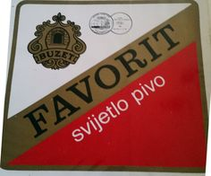 Logotype and name of famous beer brand Favorit was created by Ozeha marketing mag Johann Sartory in early 70's; picture: original label from archive J. Sartory, Ozeha Rijeka