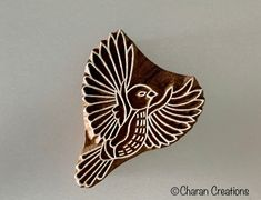 Excited to share this item from my #etsy shop: Pottery Stamp, Soap Stamp, Textile Stamp, Indian wood stamp, Tjap- Flying Bird