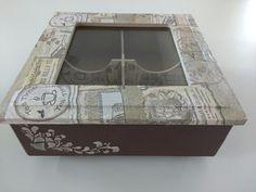 Caixa porta sachê de chá