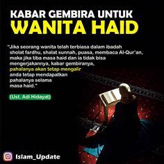 "Media Dakwah di Instagram "". Kabar gembira untuk wanita yang sedang haid 😊 . . Barakallahu fiik 👤 Ust. Adi Hidayat Lc.,MA. . . . Like, Tag & share jika postingan ini…"" Quotes Rindu, Hadith Quotes, Muslim Quotes, Quran Quotes, Religious Quotes, Mood Quotes, Positive Quotes, Best Quotes, Islamic Love Quotes"