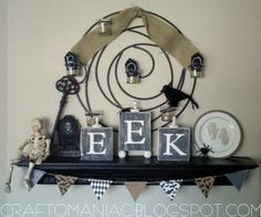 Craft-O-Maniac: DIY- Halloween {EEK Blocks}