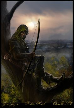 m Rogue Thief Leather Cloak Longbow Sword hills forest farmland I've always had a fascination with Robin Hood since I was a small child. Fantasy Story, High Fantasy, Fantasy Rpg, Medieval Fantasy, Fantasy World, Dnd Characters, Fantasy Characters, Character Inspiration, Character Art