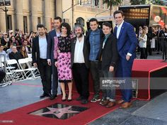 Actors Andy Serkis, Richard Armitage, Evangeline Lilly, director Sir Peter Jackson, Orlando Bloom, Elijah Wood and Lee Pace at The Hollywood Walk Of Fame Ceremony for Sir Peter Jackson held on December 8, 2014 in Hollywood, California.
