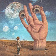 Psychedelic Art, Art Zen, Ps Wallpaper, Wow Art, Hippie Art, Weird Art, Retro Futurism, Sci Fi Art, Surreal Art