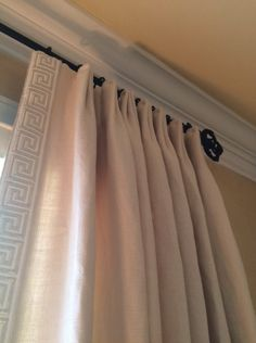 Trendy Bedroom Curtains With Blinds Greek Key Ideas