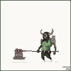 Haunted Executioner for #pixel_dailies by Gareth Davies / Children of Morta is…