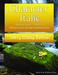 Character Beginning Cursive