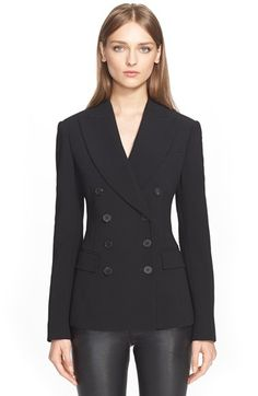 Alexander McQueen Double Breasted Wool Blazer available at #Nordstrom